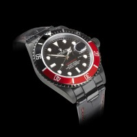Black-And-Red-Rolex-Watch