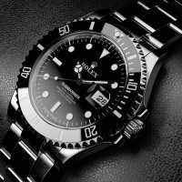 Black-Rolex-Watch