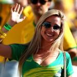 Brazil soccer team fan