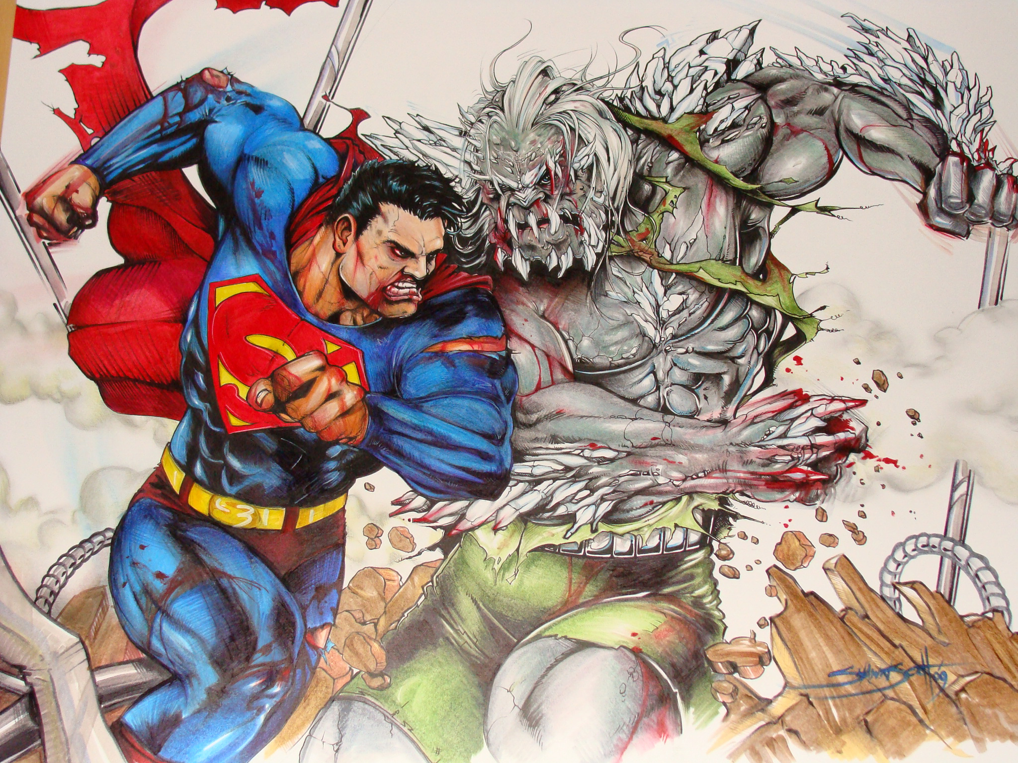 Most Inspiring Wallpaper Mac Superhero - Doomsday-vs-Superman-Wallpaper  Trends_95943.jpg
