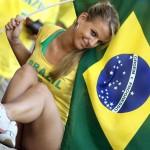 Famous hot brazilian worldcup blonde