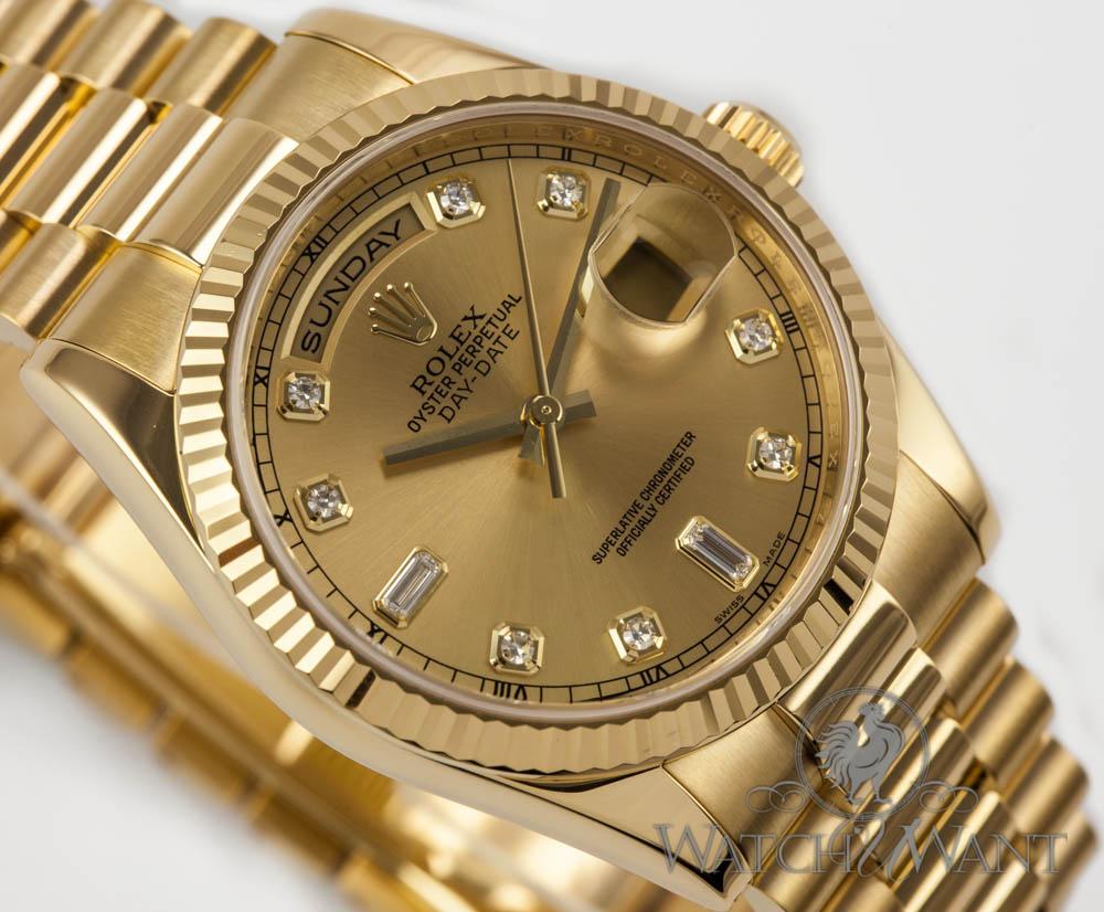 Gold Rolex Day Date Watch Mac Heat
