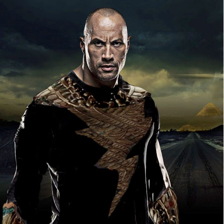 The Rock As Black Adam 2 on apple desktop themes