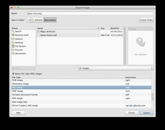 gimp download mac os x yosemite