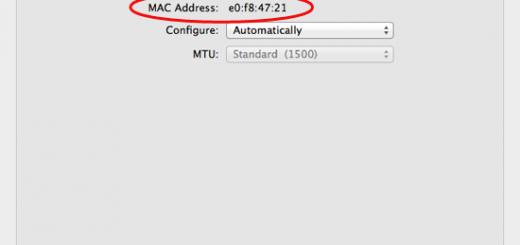 Os x wifi mac address
