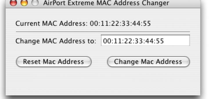Spoof mac address on apple osx