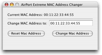 How to spoof mac address on Apple OS X