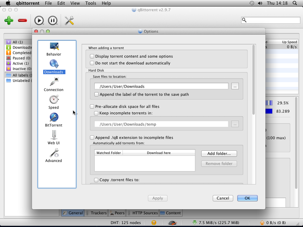 Install qBittorrent for OS X