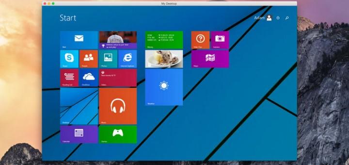 Microsoft remote desktop windows 8 on mac