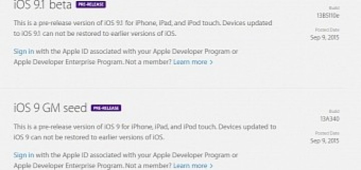 Ios 9 1 beta and ios 9 gm released to developers users get it on september 16