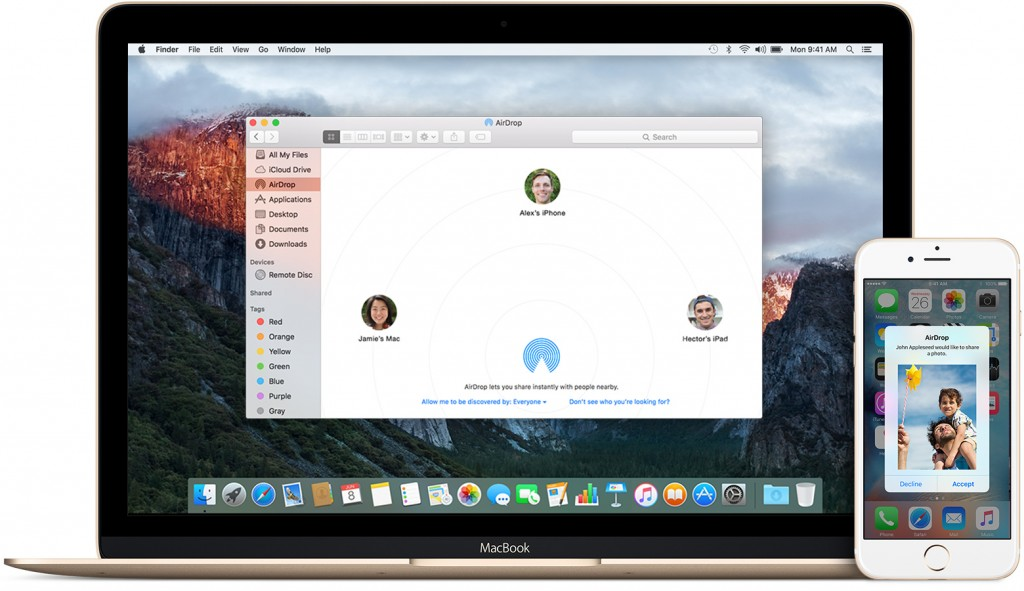 Download AirDrop For Mac OS X