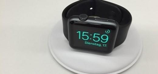Apple watch charging dock photos leak reveal nightstand mode