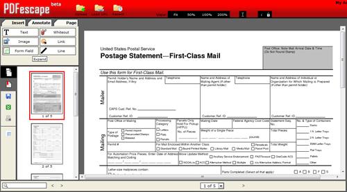 Try PDFEscape.com