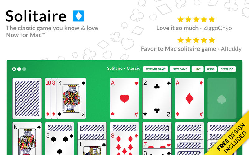 Play Solitaire Game on Mac