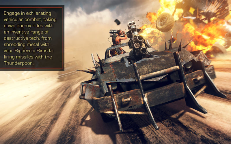 Mad max game car fight