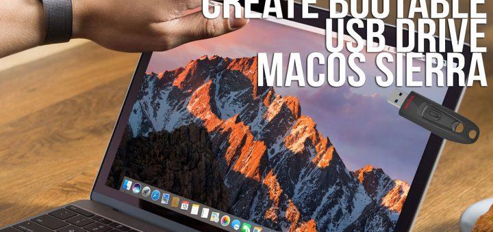 Create Bootable Usb Macos Sierra Os X 10 12 Macbook Pro Mac Mini Imac Hackintosh