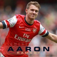 Aaron ramsey celebrates goal