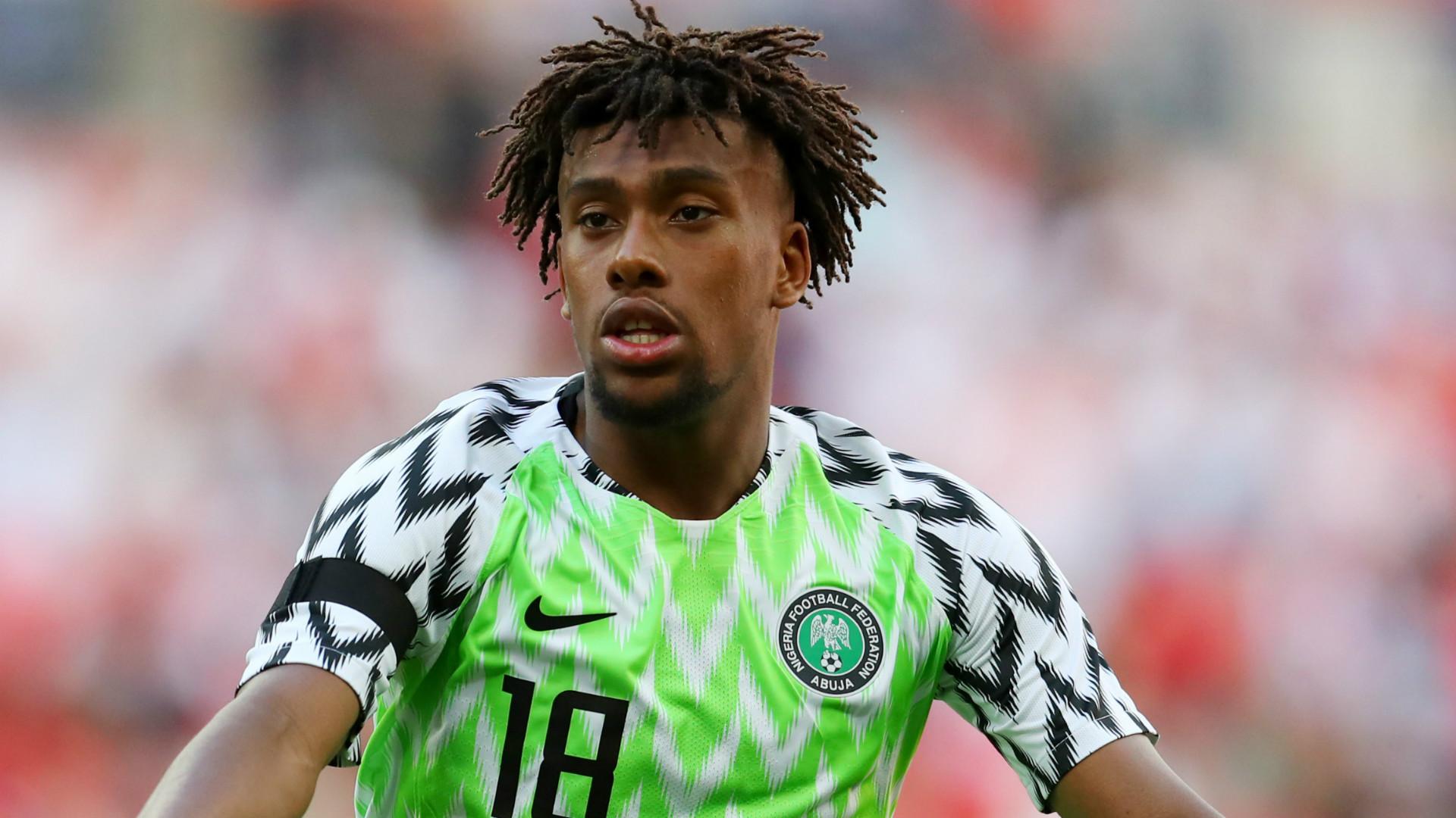 Alex iwobi nigerian jersey 2018