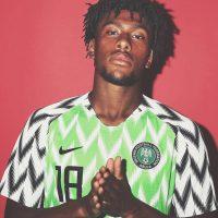 Alex iwobi wearing nigerian green nike jersey