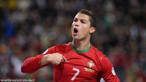 Ronaldo celebrating background