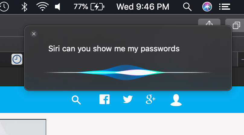 Hidden Features Mojave Siri Showing Password