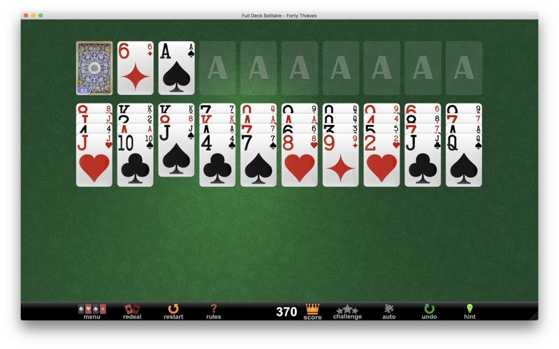 Full deck solitaire macbookair