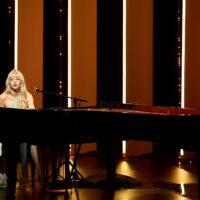 Angele playing piano