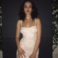 Sabrina claudio white dress