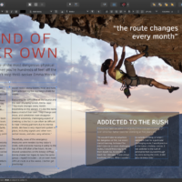 Create photo with writing on affinity publisher