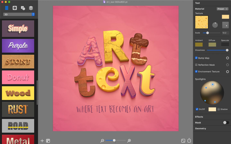 Art text 4 text effects