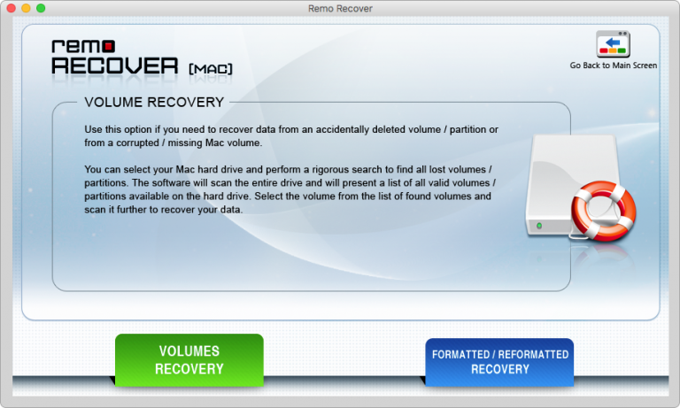 Remo recovery screenshot