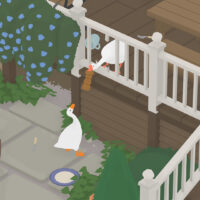 Goose breaking house funny