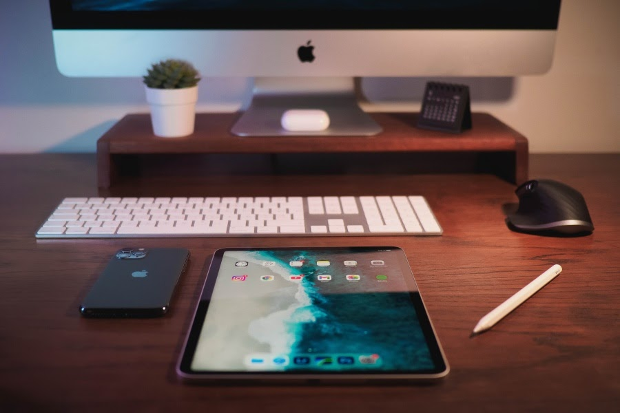 Apple products creating space