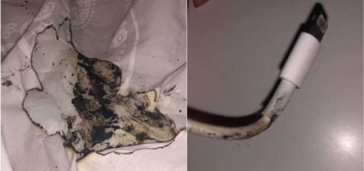 Iphone charger catches fire flames cause burn to owner s face 532506 2
